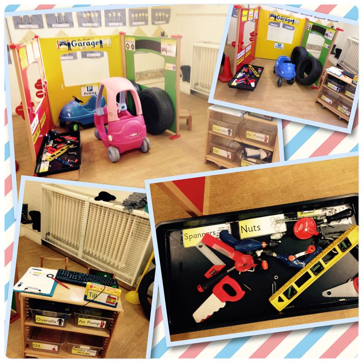 Mechanics garage role play area