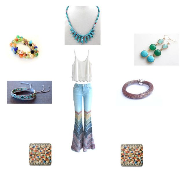 Necklace bracelet earrings by einder on Polyvore featuring Chicwish