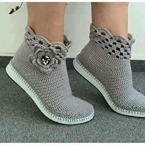 zapatos tejidos en crochet yoani
