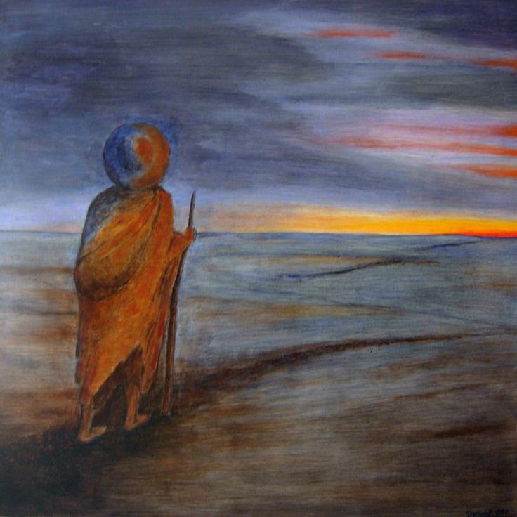 """""""El Camino Interior"""",     Primer Premio de Bellas Artes (pintura), en el Pentafinium Internacional 2007-2010.  acrílico sobre tabléx, 92 x 92 cm."""