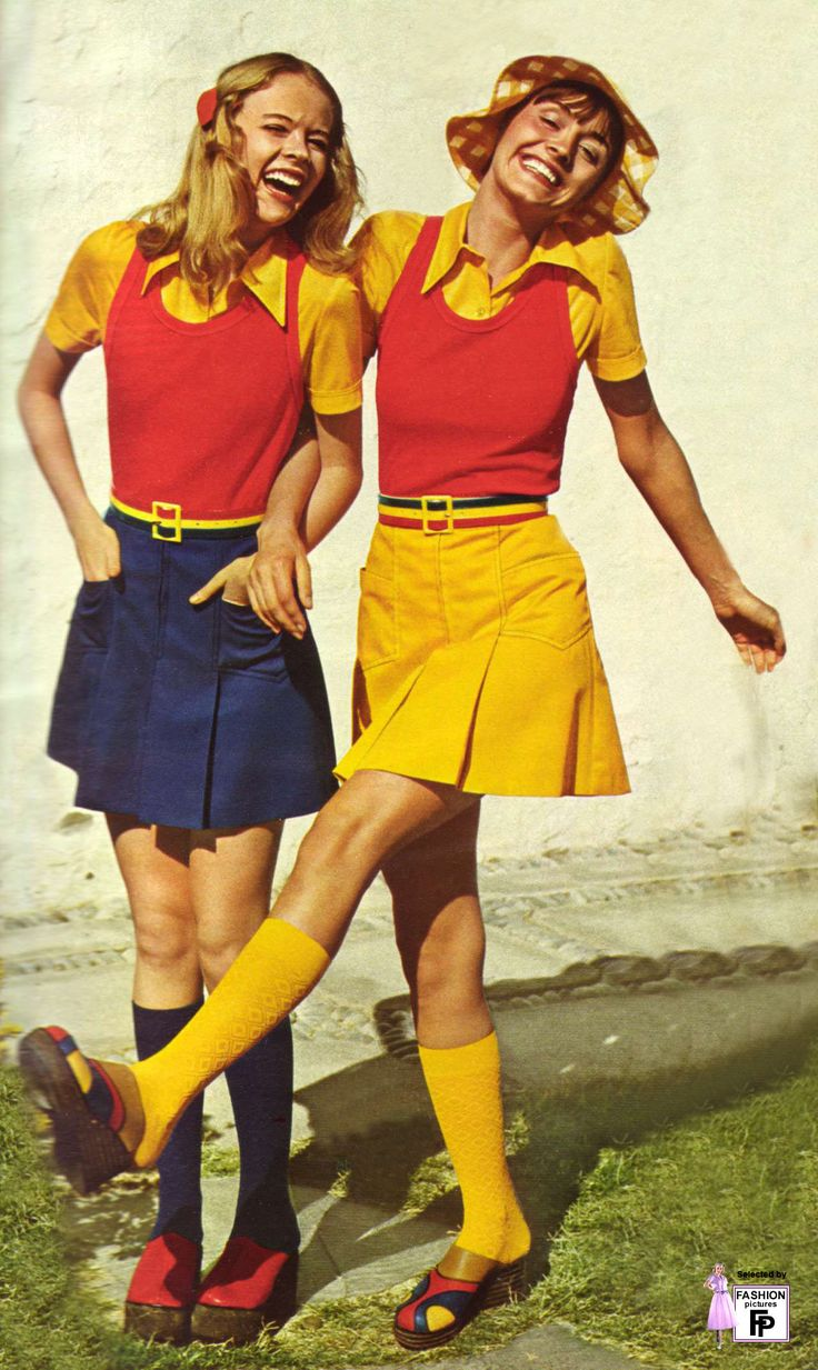 1970s miniskirts, and I thought that they were so short! :-)