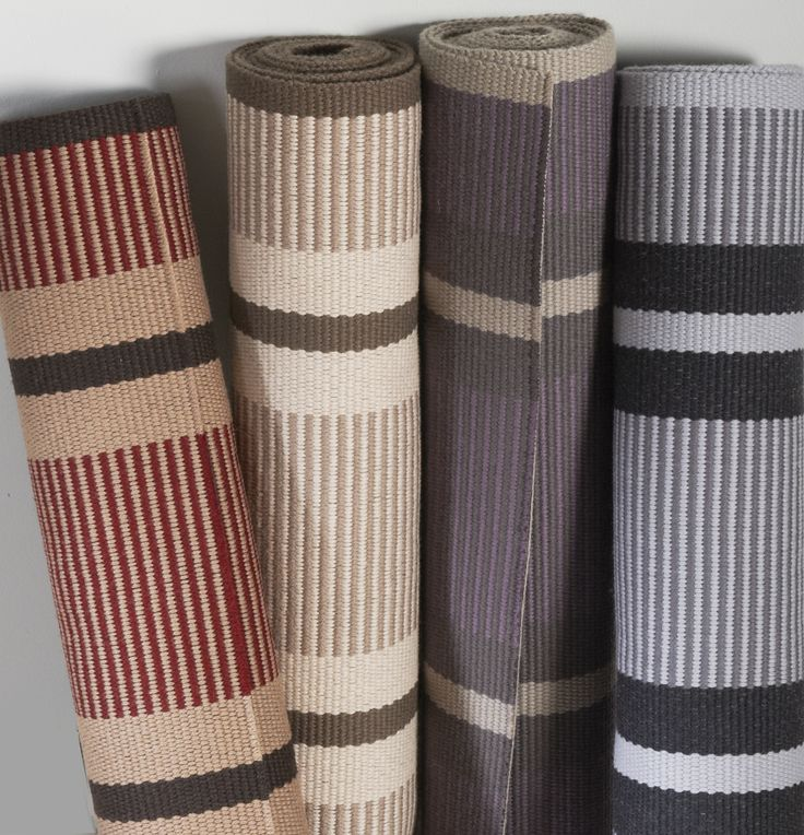 Hartley & Tissier Stripes PNT Flatweave stair runner carpets