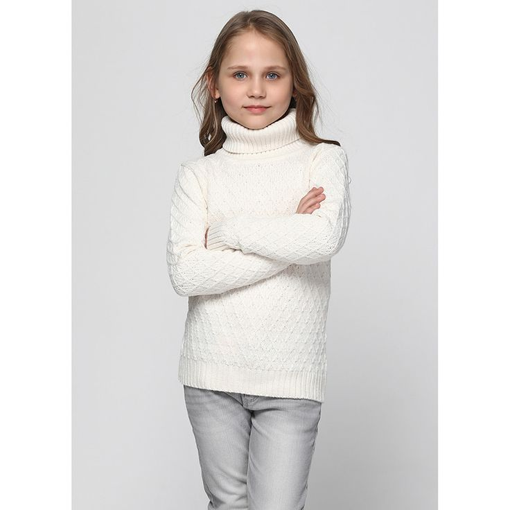 Kindo - ❤Молочный свитер Top Hat с фигурной вязкой в виде ромбов 176-2254. ✿Доступные цены. ✓Гарантия качества. ✖Доставка по всей Украине. Звоните ☎ 38 (095) 670-02-75