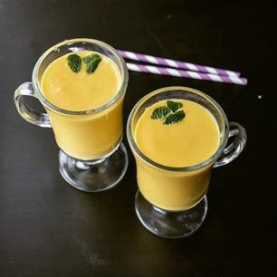 A sweet glass of mango lassi   25 Pakistani Dishes Everyone Should Learn To Cook Read Recipe by rahatjan18