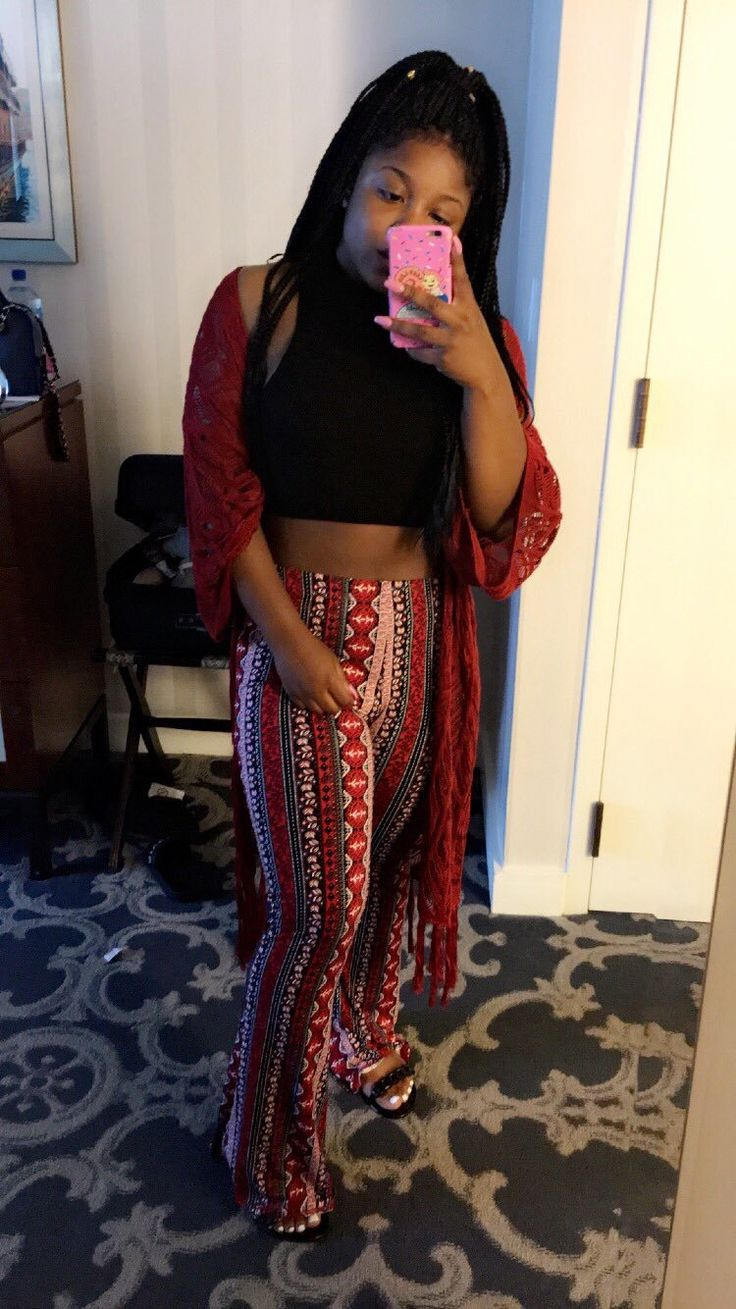 Reginae Carter's cute outfit! love the palazzo pants # ...