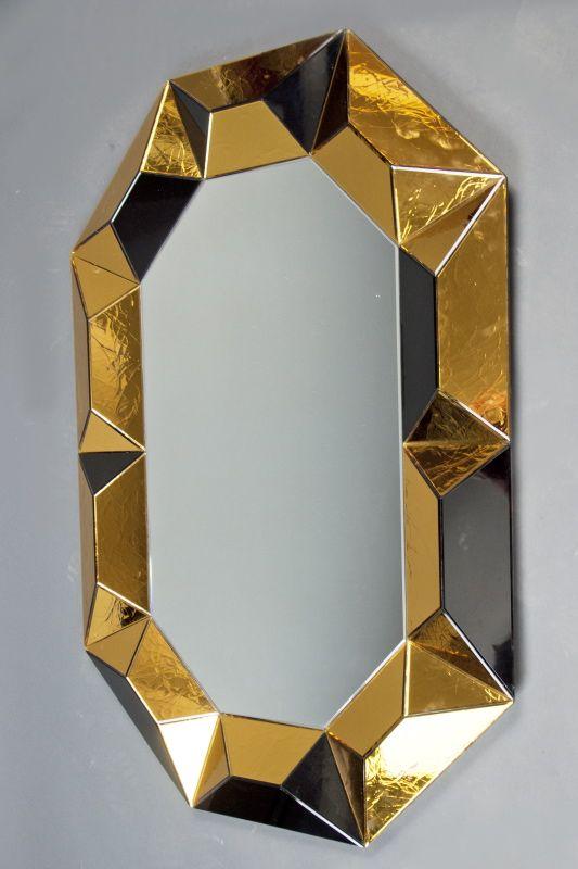 Robert Rida, Octagonal Multifaceted Mirror, 1990.