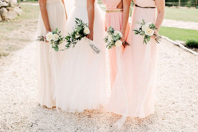 pretty shades of pink for your bridesmaids