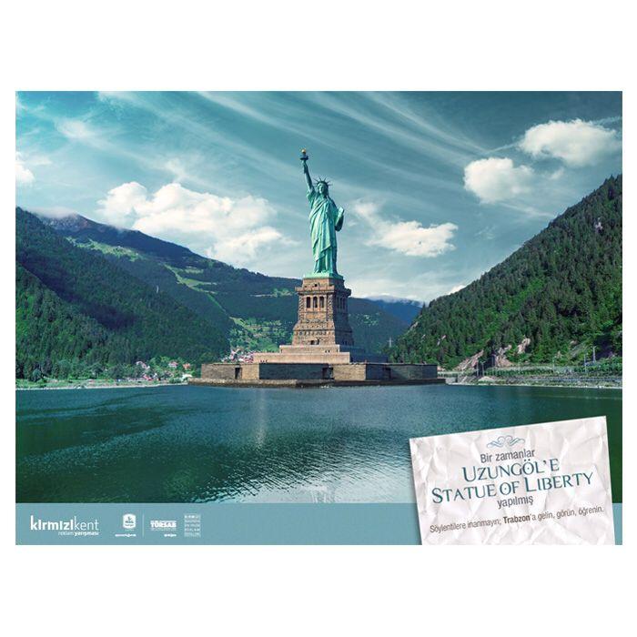 Bir zamanlar Uzungöl'e Statue of Liberty yapılmış.