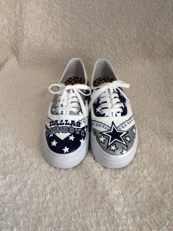 Custom Painted Dallas Cowboys Shoes by HaloHouse on Etsy