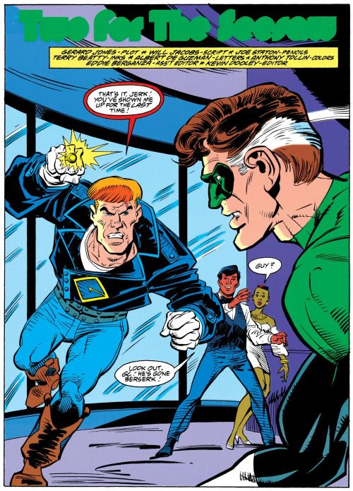Green Lantern vs. Warrior in Guy Gardner #6 (1992)