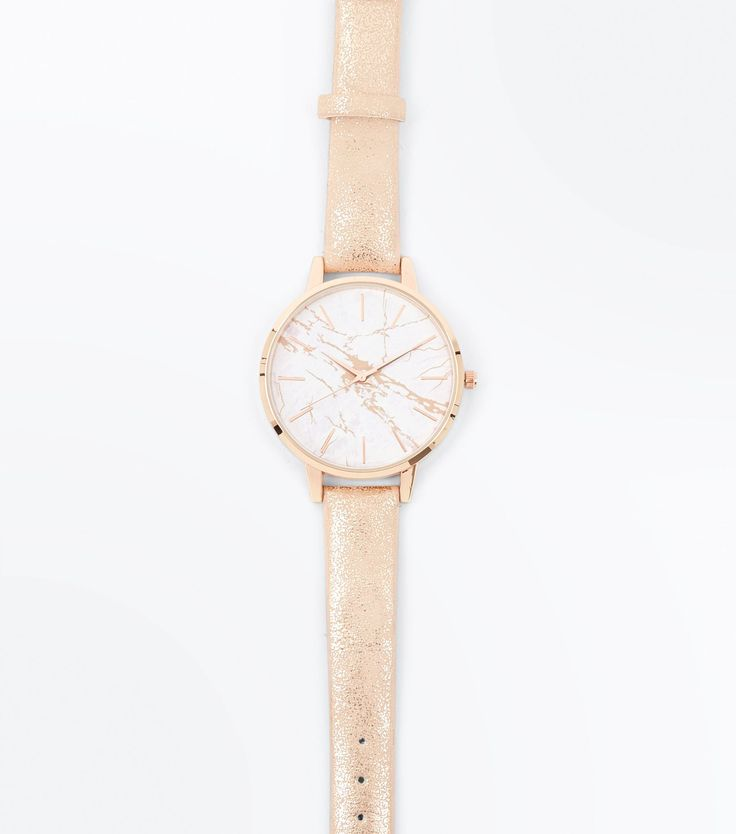 Rose Gold Marble Watch | New Look