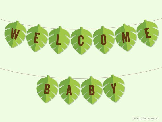 Jungle Baby Shower Banner Printable Jungle Theme Banner