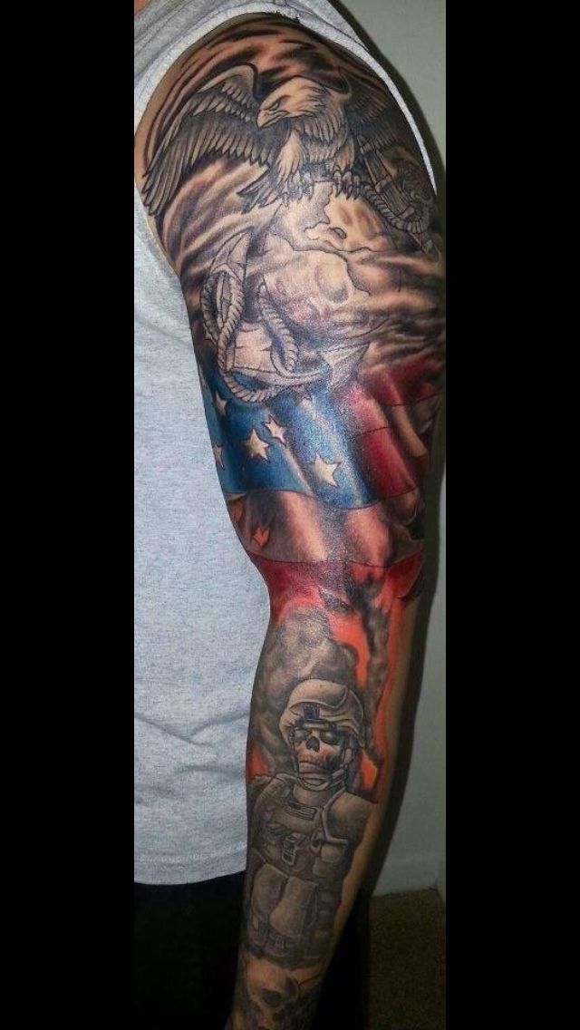Best 20 usmc tattoos ideas on pinterest marine corps for Usmc sleeve tattoo ideas