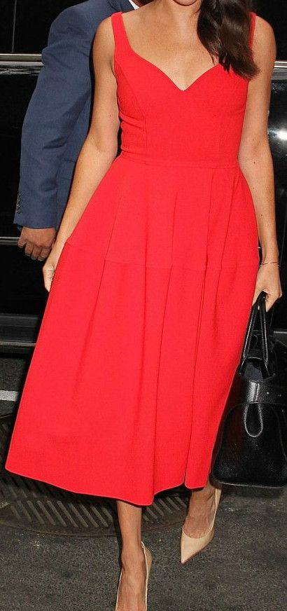 Beautiful red midi dress