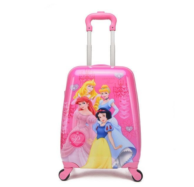 2016 COOL kids luggage rolling suitcase variety cartoon boy girl Travel 18inches students ABS+PC trolley case children gift