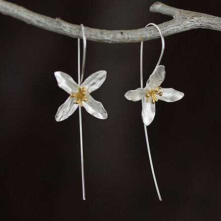925 Sterling Silver Flowers Long Drop Earrings for women Elegant Dangle Earings Girl Sterling Silver Jewelry Joyas De Plata  Only $5 => Save up to 60% and Free Shipping => Order Now!  #Earrings #Rings #Handmade #Silver Jewelry #Pandora Bracelets #Nature Stone Jewelry #Jewelry #Necklaces #Bracelets