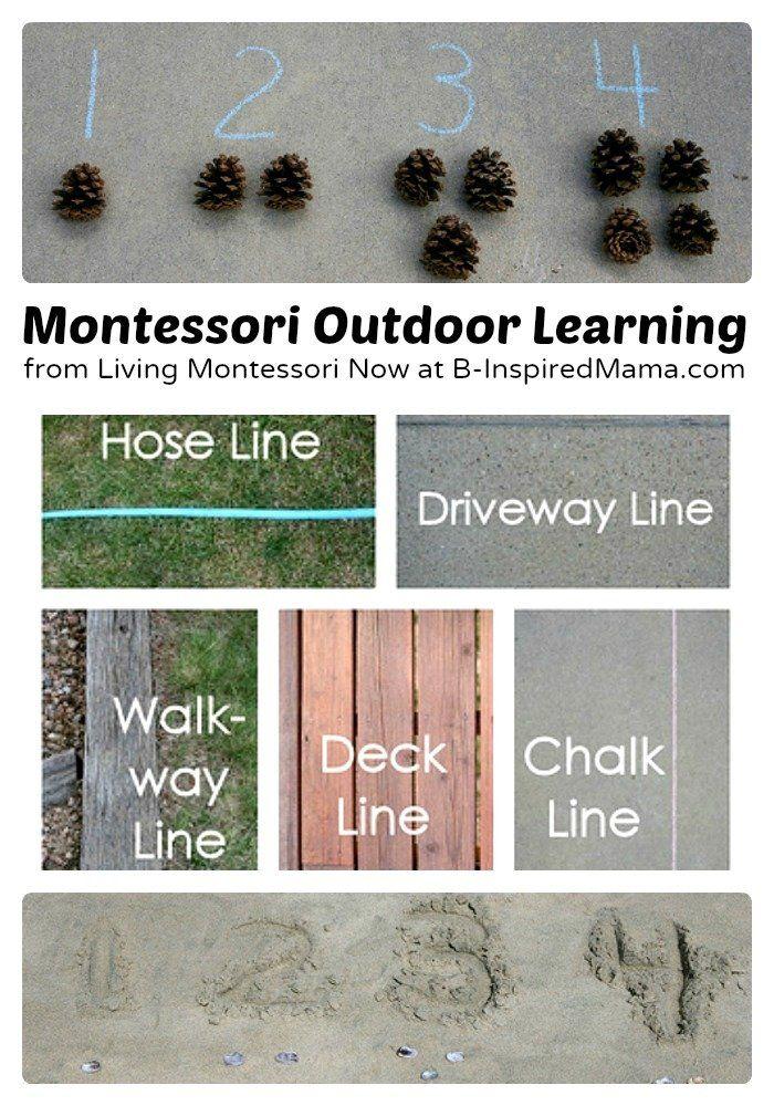 Montessori Inspired Outdoor Learning at B-InspiredMama.com