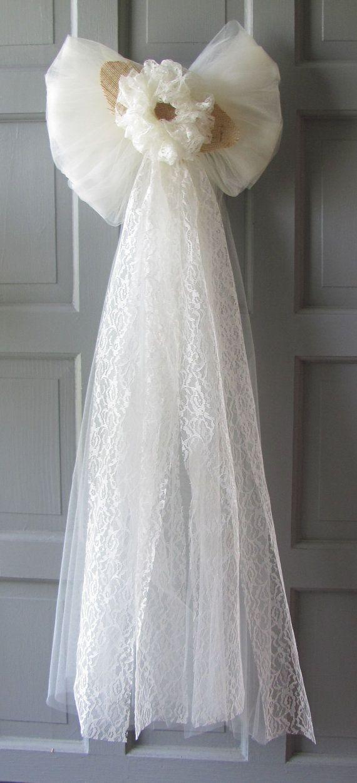 Wedding Decorations Pew Bows Rustic Decor For Wedding Pews