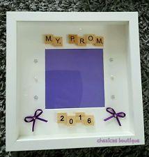 My prom 2016 Personalised Bespoke scrabble photo Frame memories school