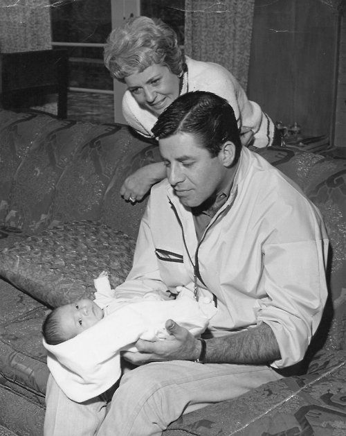 Jerry and Patti Lewis with their first grandchild
