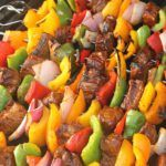 Marinated Steak and Vegetable Kabobs | Tone and Tighten