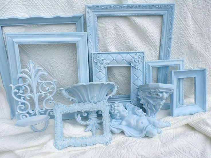 blue  picture frame lot