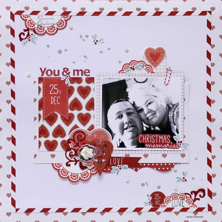 you & Me - DT layout for #kaisercraft using North Pole - Anita Bownds