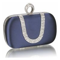 Navy baby clutch whit crystals