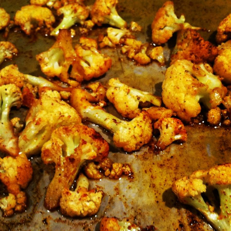 Roasted cauliflower with, but also with ancho chili and paprika.