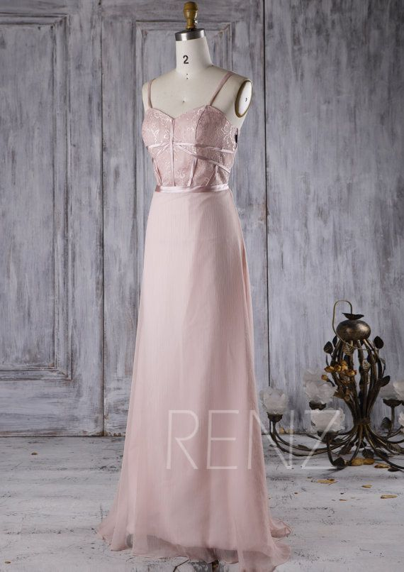 2016 Dusty Thistle Chiffon Bridesmaid Dress Sweetheart by RenzRags