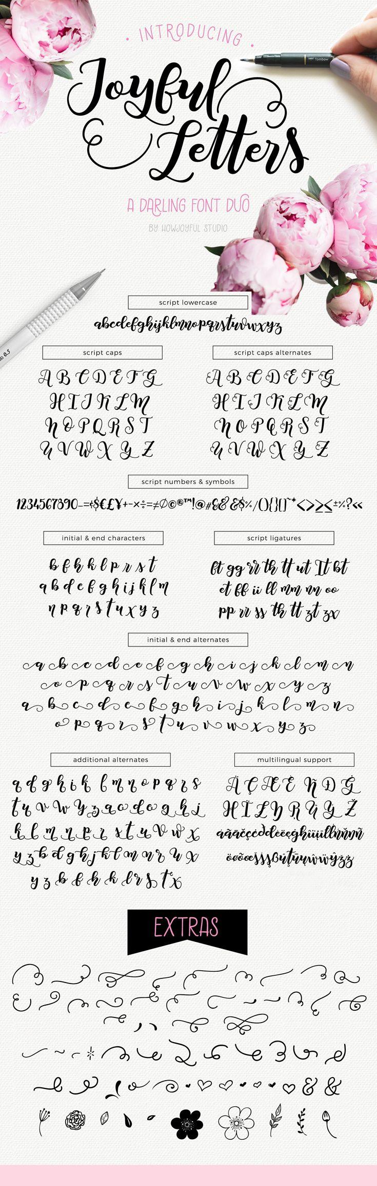 Feminine pretty script font, hand lettered, calligraphy. Fonts for branding, logos, design, commercial use.