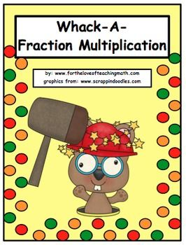 Whack-A-Mole Fraction Multiplication Game