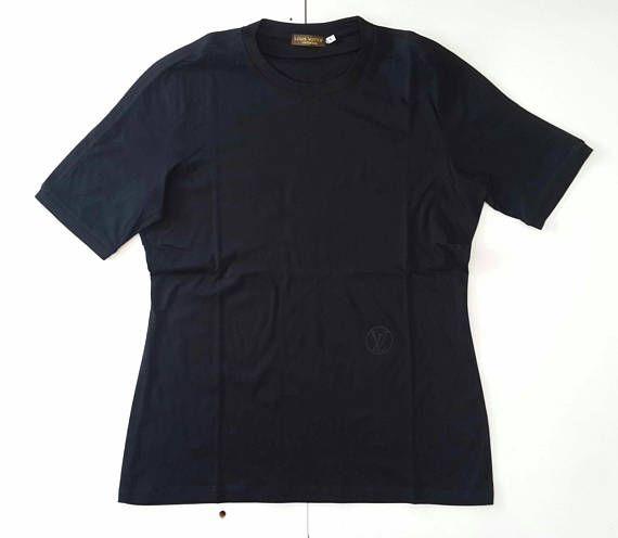 Vintage LOUIS VUITTON Uniformes Authentic tee shirt dark blue