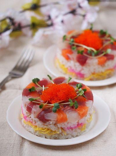 ひな祭りのお寿司ケーキ by ゆずママさん | レシピブログ - 料理ブログ ...