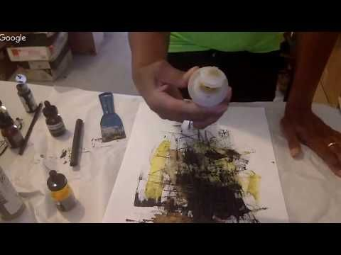 Painting in my Studio with acrylic inks... - YouTube