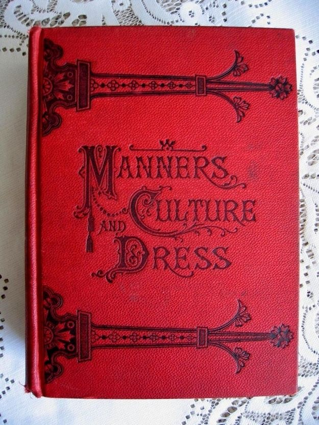 Old Book Covers For Sale : Best victorian ettiquette images on pinterest