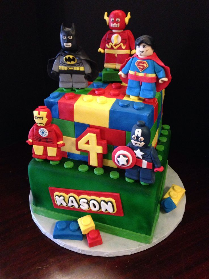 Continuing With This Weeks Extravagant Cake Theme Time The Birthday Boy Had His Heart Set On Lego Versions Of Favorite Marvel And DC Superheroes