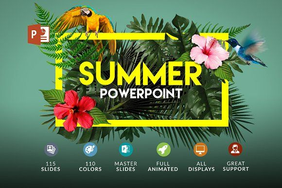 Summer | Powerpoint + Bonus by Zacomic Studios on @creativemarket
