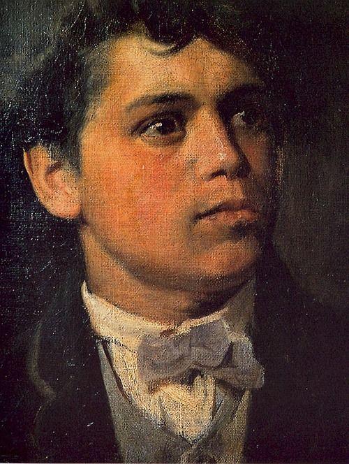 cavetocanvas:  Giovanni Segantini, Self Portrait, 1879