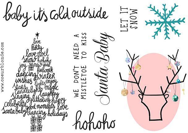 Coeurblonde producten   Winter raam/spiegel sticker-set!