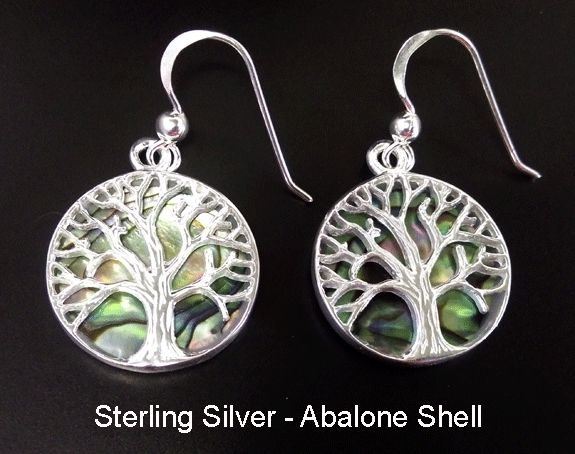 Mothers Day Gift 187, Sterling Silver Earrings with Abalone Shell - under $50 at at www.treeoflifejewellery.com and https://www.etsy.com/shop/MyTreeOfLifeJewelry and www.mothersdayaustralia.net.au #treeoflife #treeoflifejewelry #jewelry  #jewellery #celtic #mothersdaygiftideas #mothersday #earrings