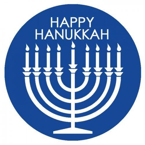 Happy Hanukkah Tags Dark Blue