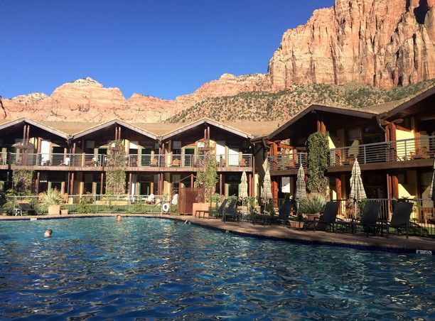 Desert Pearl Inn, Springdale, Utah — by Tove Martin. This made a great base camp for exploring Zion. Great pool, hot tub and fantastically dramatic backdrop (as you can...