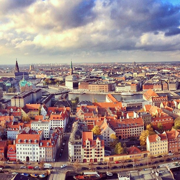Aerial View Copenhagen K Benhavn Danmark Danish Denmark Travel Europe City Capital