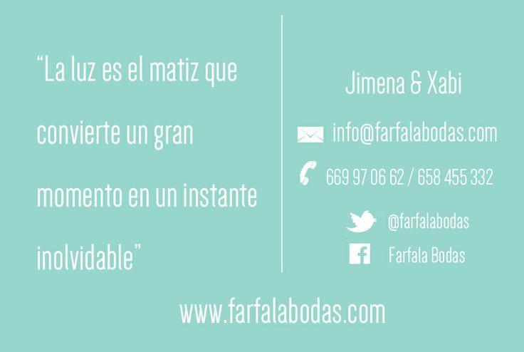 Tarjetas de negocios: Farfala Bodas
