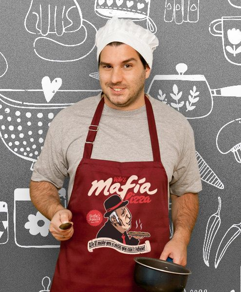 Vito's Mafia Pizza Cooking Apron Husband Awesome Gift by store365