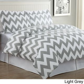 Chevron 3-piece Cotton Duvet Cover Set | Overstock.com Not sure if i am a fan of chevron....i guess it is not horrible.