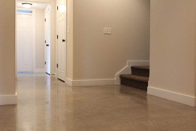 55 Polished Concrete Floors In Basement Polished Concrete Floor With Exposed Aggregate Basement Finishing Basement Basement Flooring Basement Color Schemes
