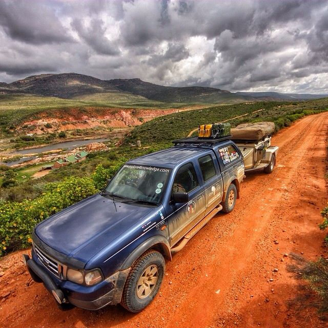 #Ford #Ranger and #Jurgens #OffRoad #Trailer #XT_140 working hard along the #OlifantsRiverWC west coast of South Africa in a diamond mining area. #explore4knowledge #e4k_JohnLucas #johnlucas_co_za #e4k_water