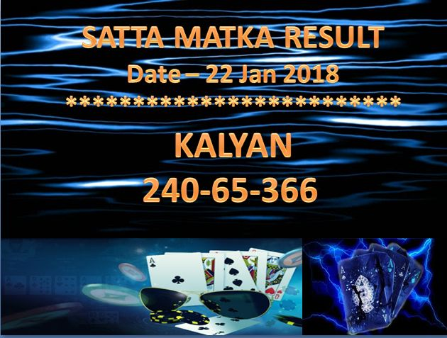 Satta Matka KALYAN CLOSE @Marketingland  Date - 22 Jan 2018  #satta #matka #sattamatka #sattaking http://sattaking143.mobi/